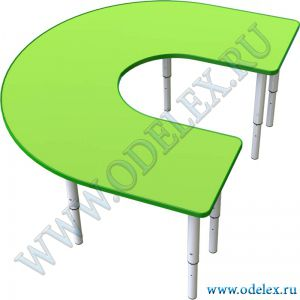 М-359 Стол - подкова большая на рег. ножках