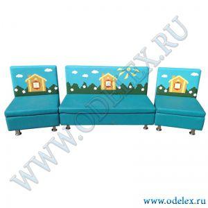 """Б-19 Комплект мягкой мебели """"Домик"""""""