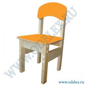 ММ-9-5 Стул детский (массив-фанера) оранжевый