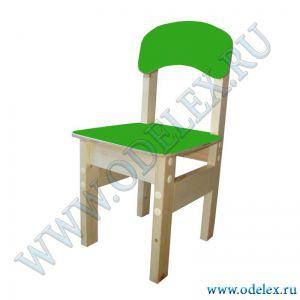 ММ-9-4 Стул детский (массив-фанера) зеленый