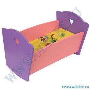 И-6 Кроватка для кукол (с постельным бельём)