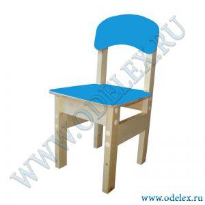 ММ-9-1 Стул детский (массив-фанера) синий