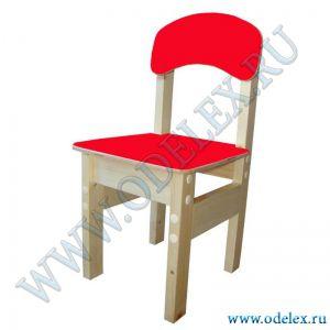 ММ-9-2 Стул детский (массив-фанера) красный