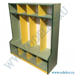 М-252-4 Шкаф для одежды 4-ех секц. открытый