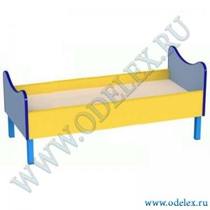 М-239-1 Кровать детская  с фиг.спинкой на мет. ножках