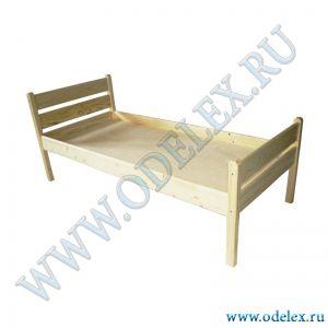 М-340 Кровать детская прямая спинка (массив)