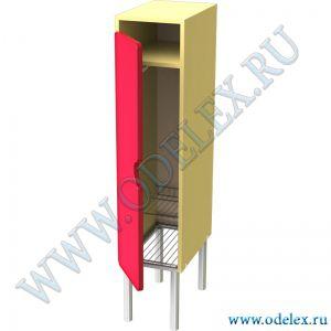 М-233-1 Шкаф для одежды 1 -секц. (металлокаркас)