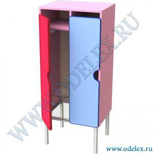 М-233-2 Шкаф для одежды 2-секц. (металлокаркас)