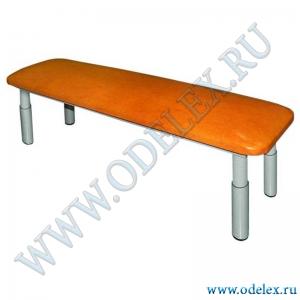 М-237-1 Скамейка регул. мягкая (метал.) L-95 см