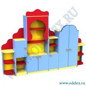 М-23 Стенка детская с платяным шкафом