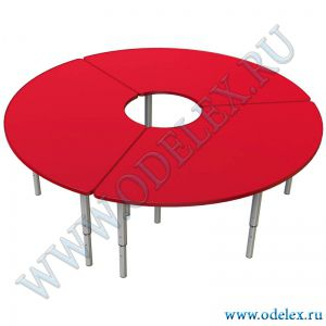 М-318-1 Стол круглый из трёх половинок