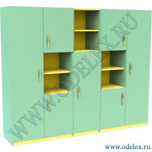М-32 Шкаф для кабинета (5 секций)