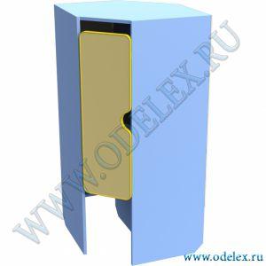 М-89-7 Шкаф для одежды 2-х секц. угловой