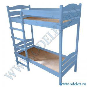 М-345-1 Кровать детская 2-х ярусная (массив) цветная