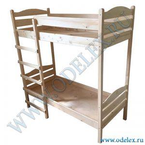 М-345 Кровать детская 2-х ярусная (массив) лак
