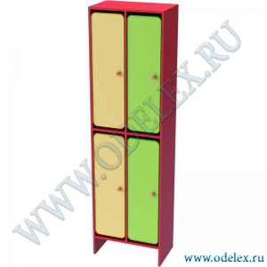 М-253-2 Шкаф для одежды двухъярусный 2-секционный