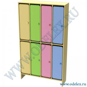 М-253-4 Шкаф для одежды двухъярусный 4-секционный