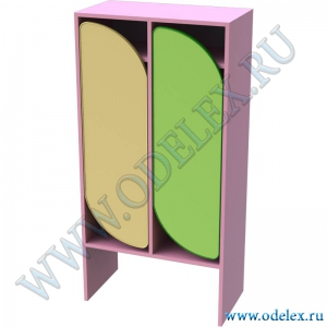 М-254-2 Шкаф для одежды детский 2-секционный