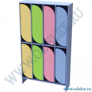 М-255-4 Шкаф для одежды двухъярусный 4-секционный