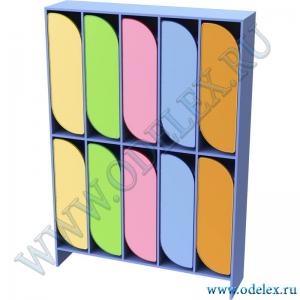 М-255-5 Шкаф для одежды двухъярусный 5-секционный