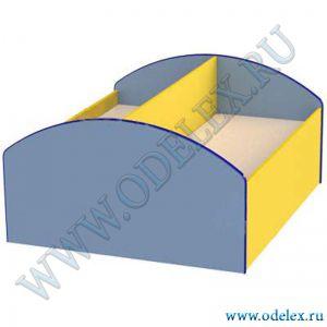 М-334 Кровать «Двухрядная с перегородкой»