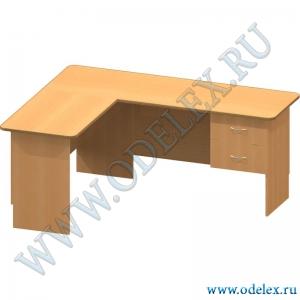К-33-2 Стол офисный угловой (с панелью для клавиатуры)