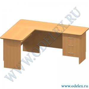К-34-2 Стол офисный угловой с нишей (без панели для клавиатуры)