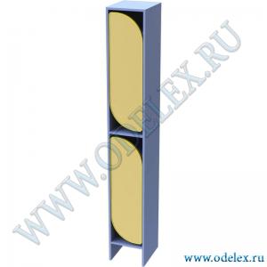 М-255-1 Шкаф для одежды двухъярусный 1-секционный