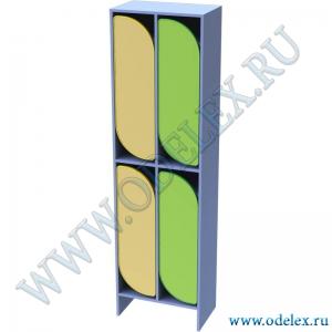 М-255-2 Шкаф для одежды двухъярусный 2-секционный