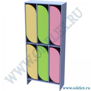 М-255-3 Шкаф для одежды двухъярусный 3-секционный
