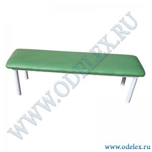 М-236-1 Скамейка мягкая (металлокаркас) L-120 см
