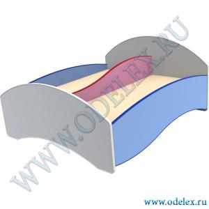 М-365 Кровать «Двухместная с перегородкой»